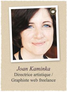 Joan Kaminka, directrice artistique et graphiste web freelance